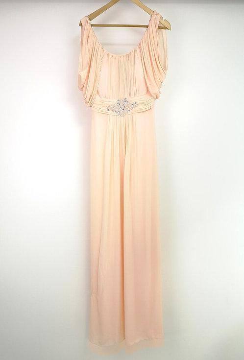 Ref8030 Robe femme fluide beige
