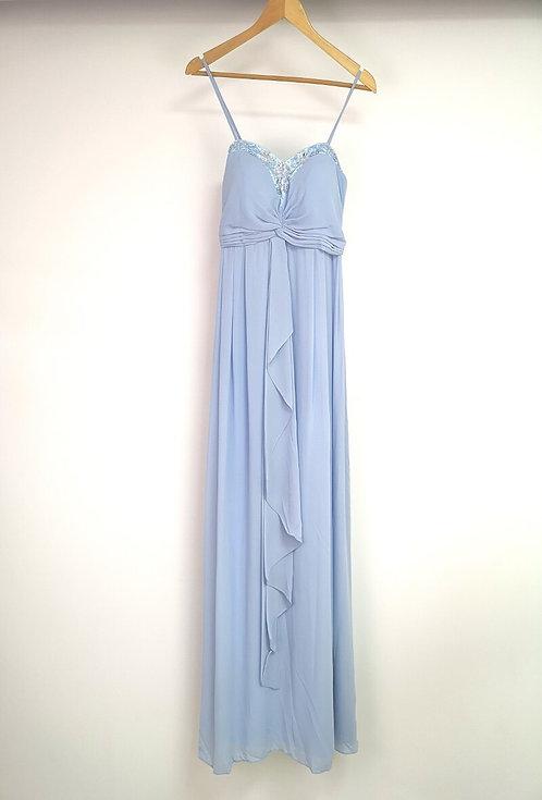 Ref8019 Robe femme fluide Bleu ciel