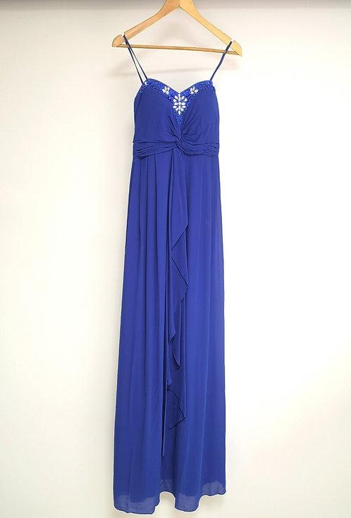 Ref8019 Robe femme fluide Bleu roi