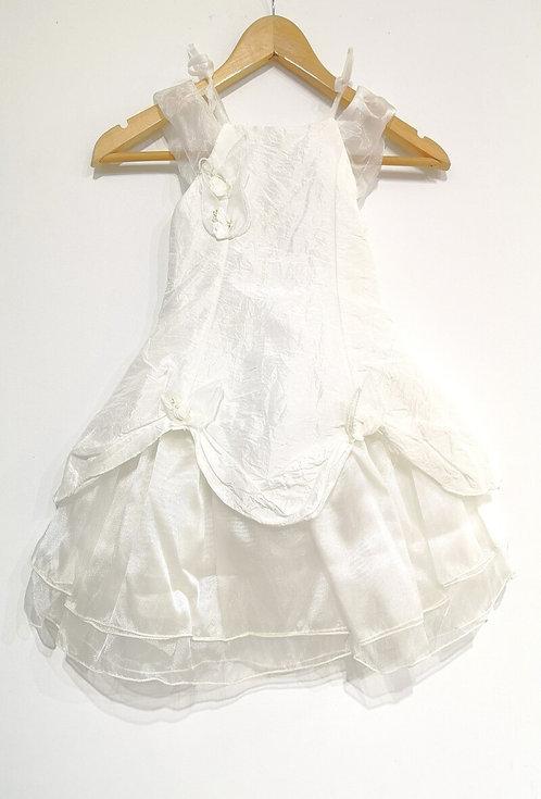 Réf006 Robe fille cérémonie blanc