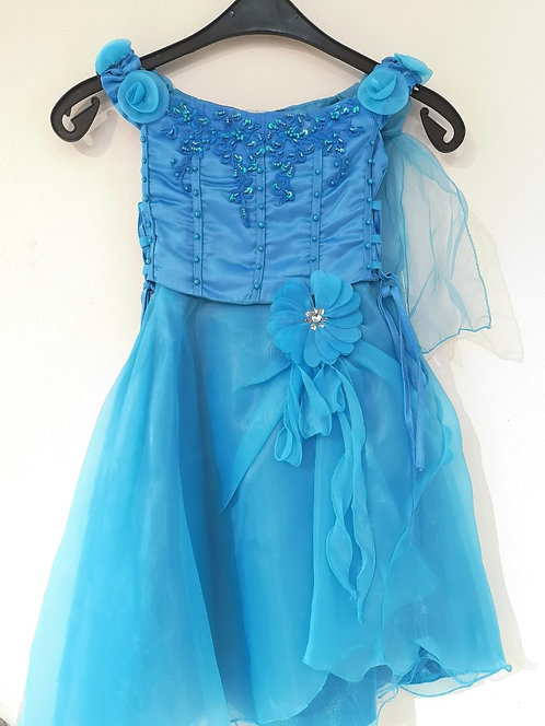 Ref902 Robe cérémonie bleu