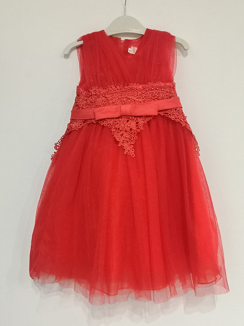 Ref810 Robe fille tulle rouge