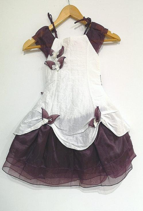 Réf006 Robe fille cérémonie violet