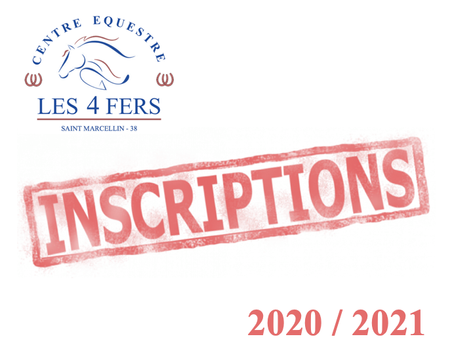 INSCRIPTIONS RENTREE 2020 / 2021