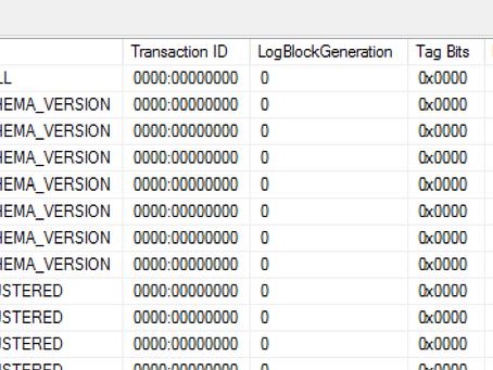 Quick Tip: SQL Transaction Log Management