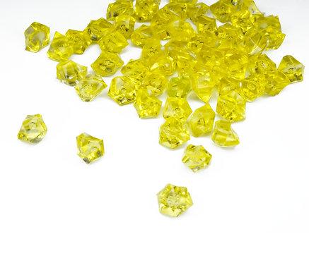 Acrylic stone Ice Rocks Yellow, 10mm, 100g