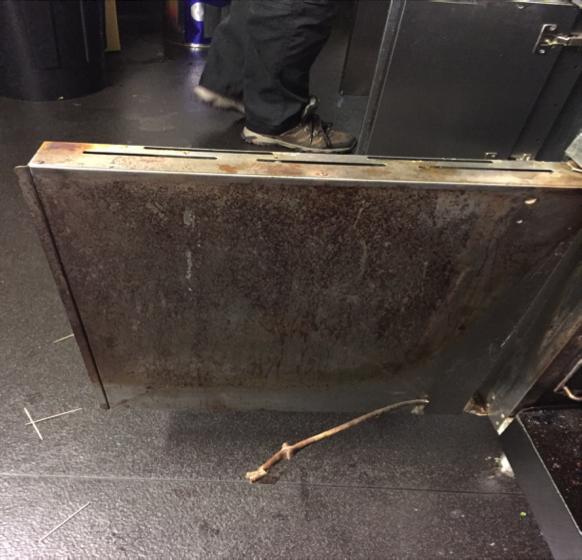 oven door before