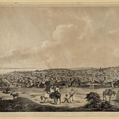 Panoramic view of San Francisco, California, from hilltop, looking northeast. California San Francisco, ca. 1850. Photograph. https-::www.loc.gov:item:2006677456:.