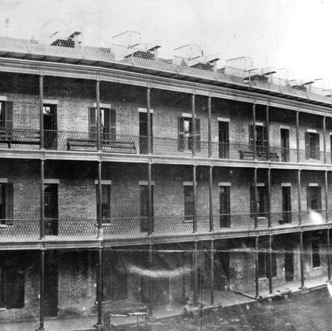 """""""1865, Interior view of Fort Point."""" National Park Service"""