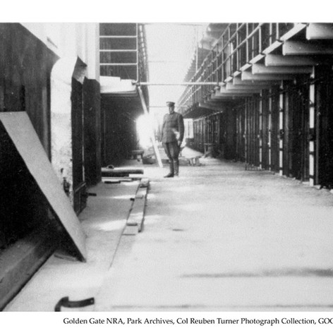 Alcatraz cell house before completion, c1912