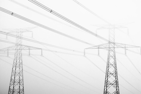 Lignes électriques - Etretat
