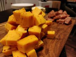 Billede fra vin/ostesmagning