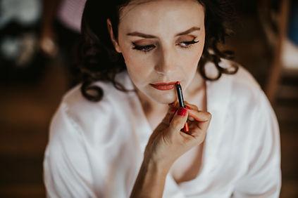 bridal makeup red lips