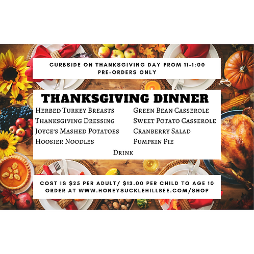 Thanksgiving Dinner Curbside- Adult