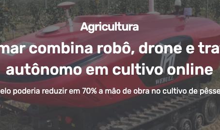 Empresa chinesa de robótica apresenta protótipo de fazenda online