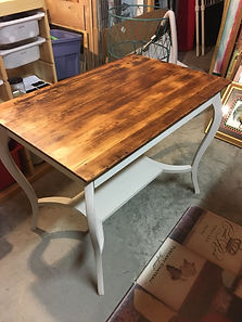 library table after refinishing