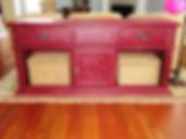large custom wood sign rustic white washed barn wood peacerge