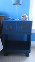 night stand after refinishing and painting