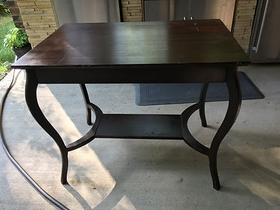library table before refinishig