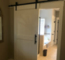 Custom Barn Door Painted to Match Trim