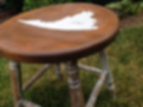 antique mik stool refinished