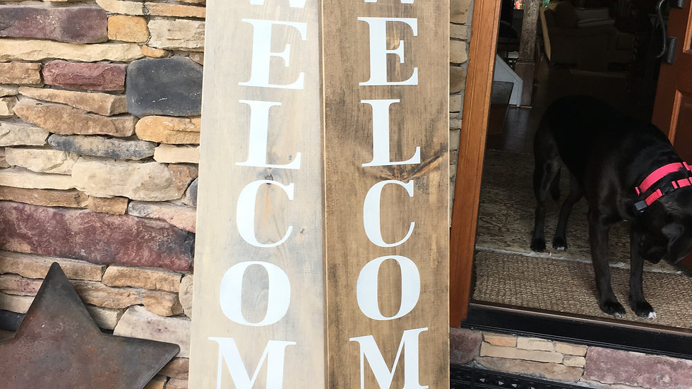 wood porch signs