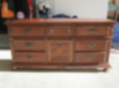 dresser before refinishing