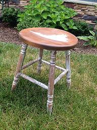 antique mik stool refinished