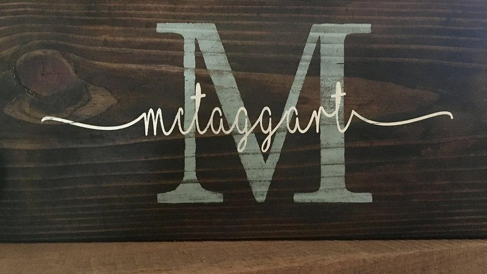 monogram overlay