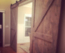 Custom Double Barn Doors Classic Grey