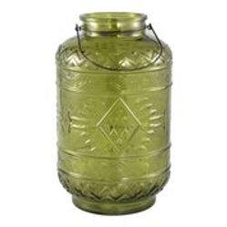 PTMD Vaas/Windlicht Lime/Geel