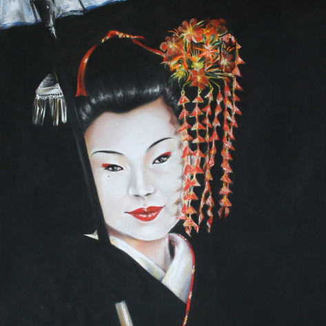 GEISHA WITH UMBRELLA | GEISHA CON SOMBRILLA