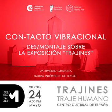 DES / assembly of the exhibition Trajines