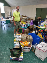 Wendell with donations for Eastpoint FL fire victims 6/18