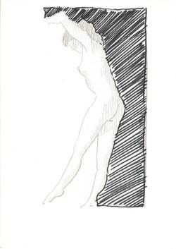 18. P. Alviti, studio di donna#18, 2008, matita e pennarello su carta, cm21x28cm