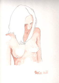 38. P. Alviti, studio di donna#38, 2008, acquarello e matita su carta, cm25x35cm