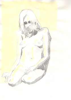 13. P. Alviti, studio di donna#13, 2008, matita e pastello su carta, cm21x28cm.j