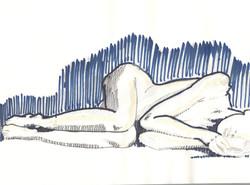17. P. Alviti, studio di donna#17, 2008, matita e pennarello su carta, cm28x21cm