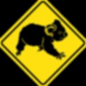 Kangaroo Island koala sign