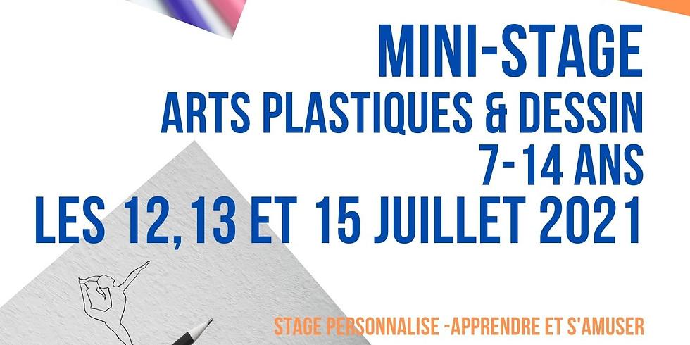 Mini-stages dessin, peinture et arts plastiques 7-14 ans