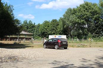Parking Haras de la Ferme des Hospices - centre équestre Les Cateliers - Houppeville, Normandie