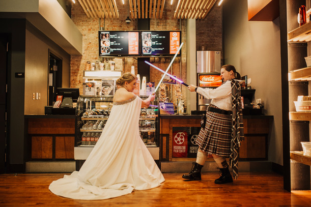 Stacey & Betsy | I Love You... I Know | Star Wars Robinson Film Center Wedding