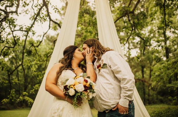 Cori & Dustin | Intimate Backyard Wedding
