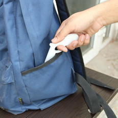 Store in your bag's spare pocket when on the move