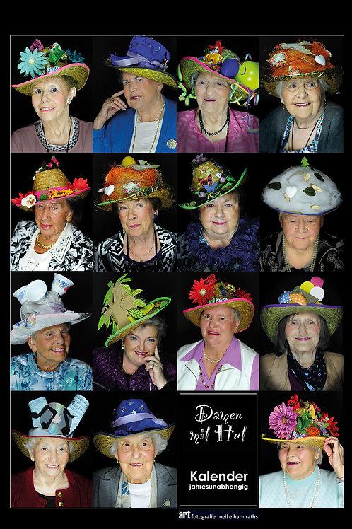 Kalender 'Damen mit Hut' - jahresunabhängig