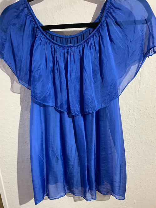 Washed silk top