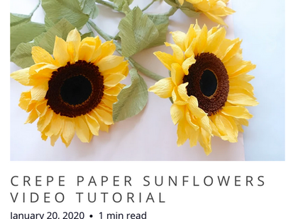 Crepe Paper Sunflower NEW Tutorial