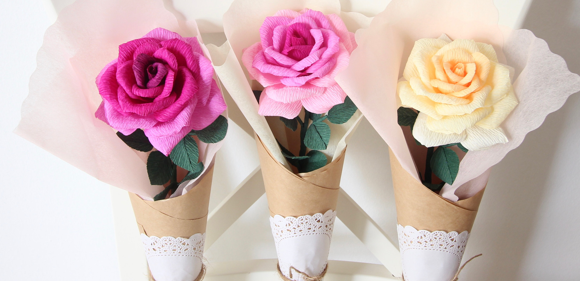 Crepe Paper Ombre Roses