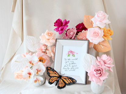Mother's Day 2021 - Crepe Paper Flower Bouquets for Moms in Singapore