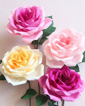 Crepe Paper Flower Ombre Rose